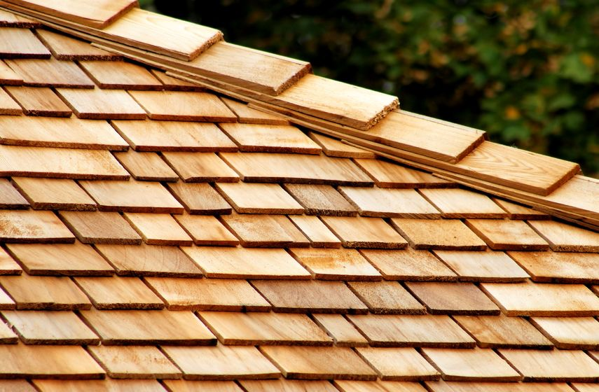 wood roofing shingles