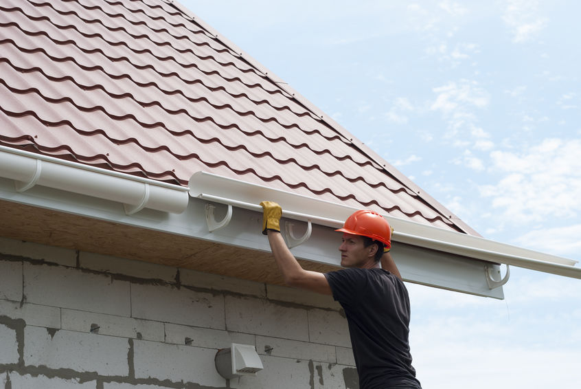 roofers in Fort Worth install and repair gutters